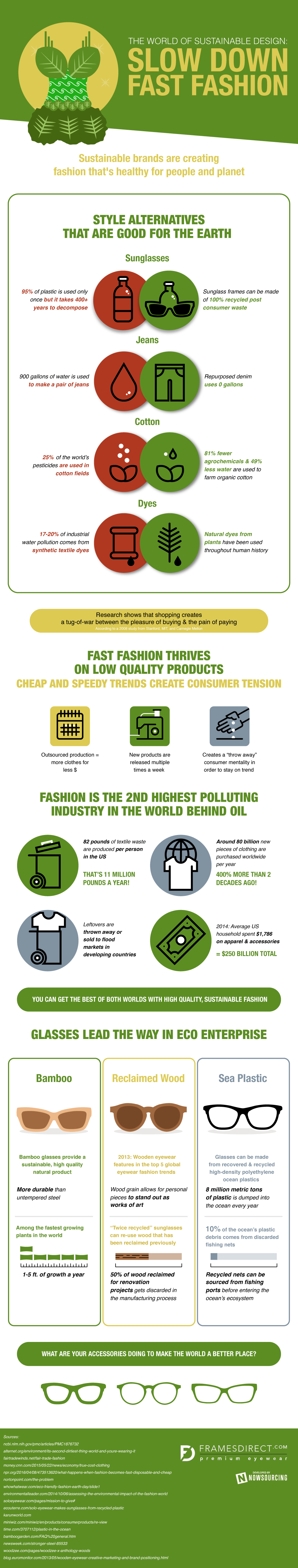 How Sustainability Can Help Your Wardrobe Pollute Less [Infographic]